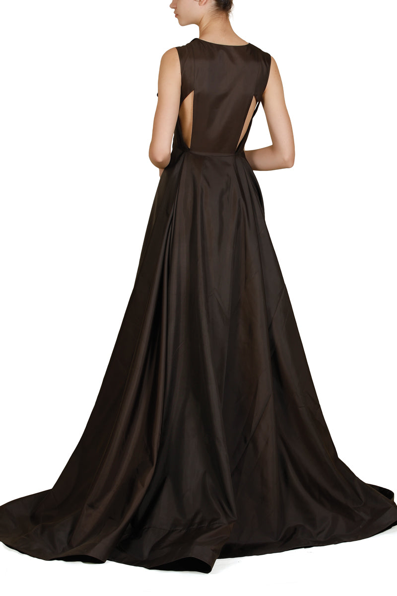 Collared Asymmetric Gown