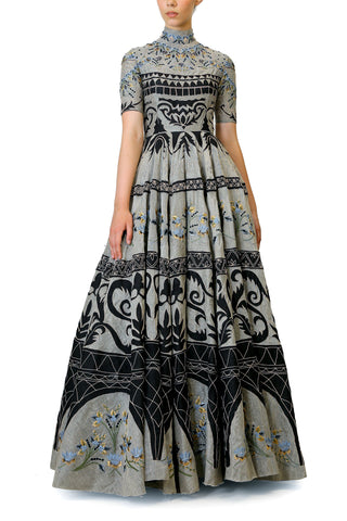 Block Printed Tiered Dress