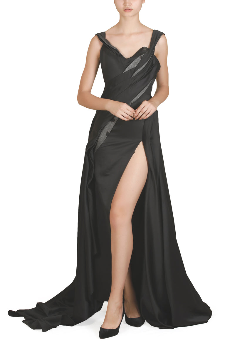 Thigh Slit Gown