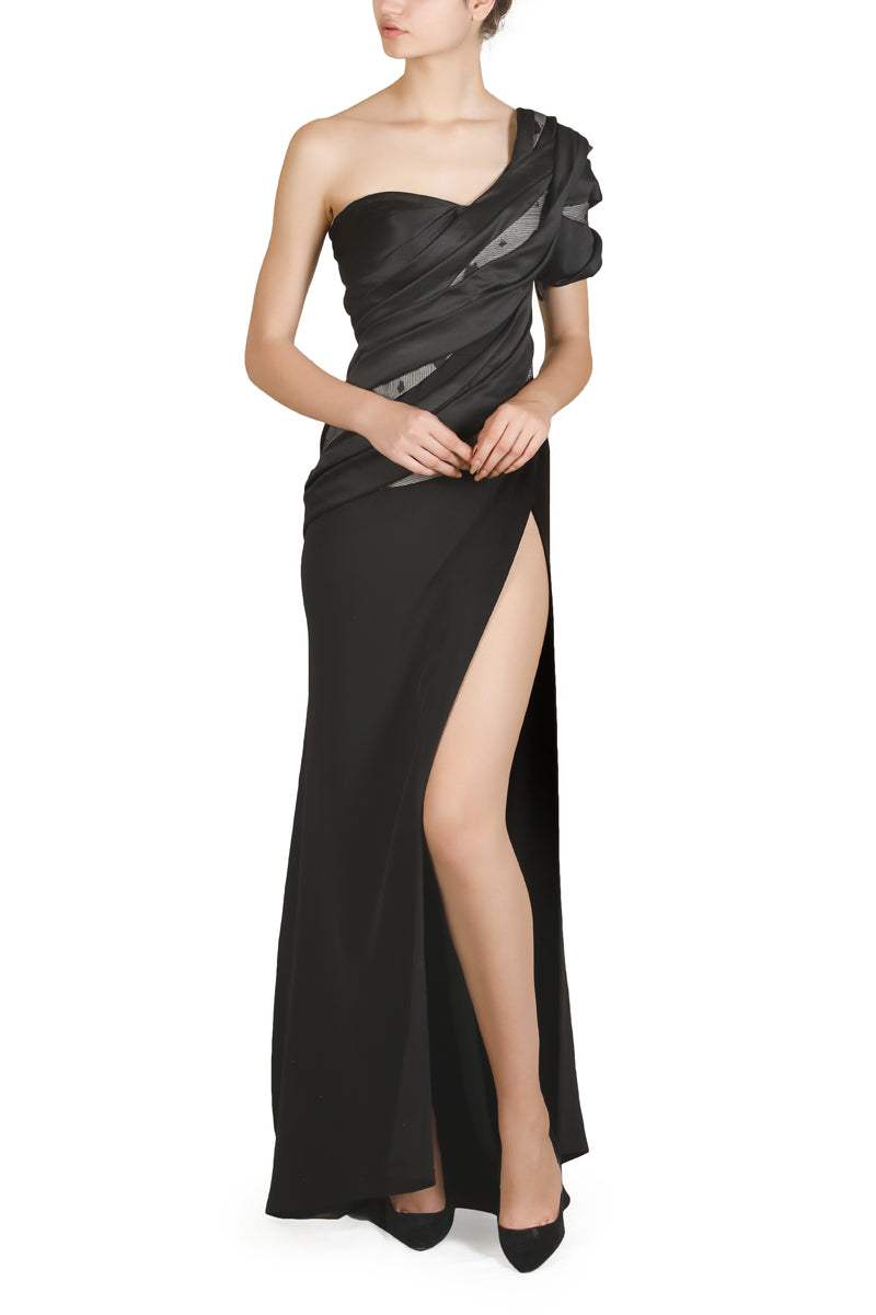 Front Slit Gown