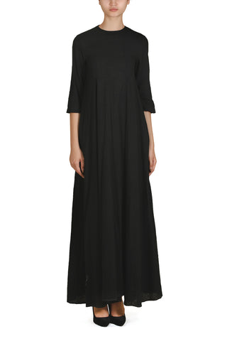 Attached Cape Front Tie-up Dress