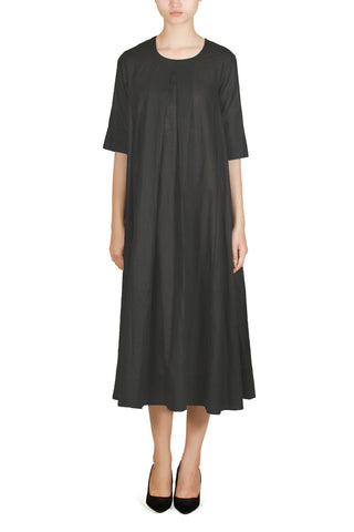 Inverted-Pleats Long Dress