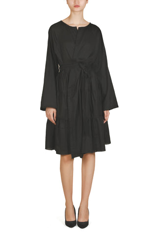 Paneled Asymmetric Shirt Dress