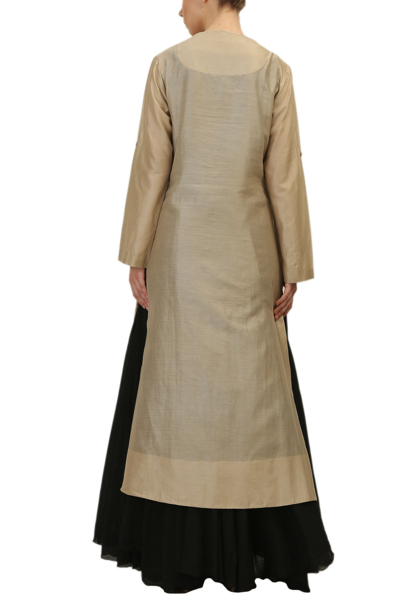 Button-down Kurta & Inner Slip