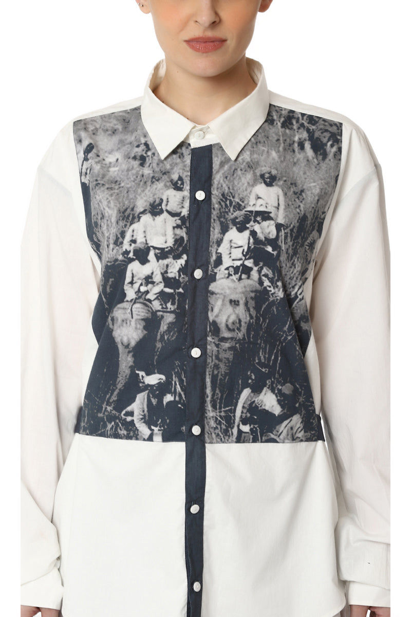 Layered Digitally Printed Shirt