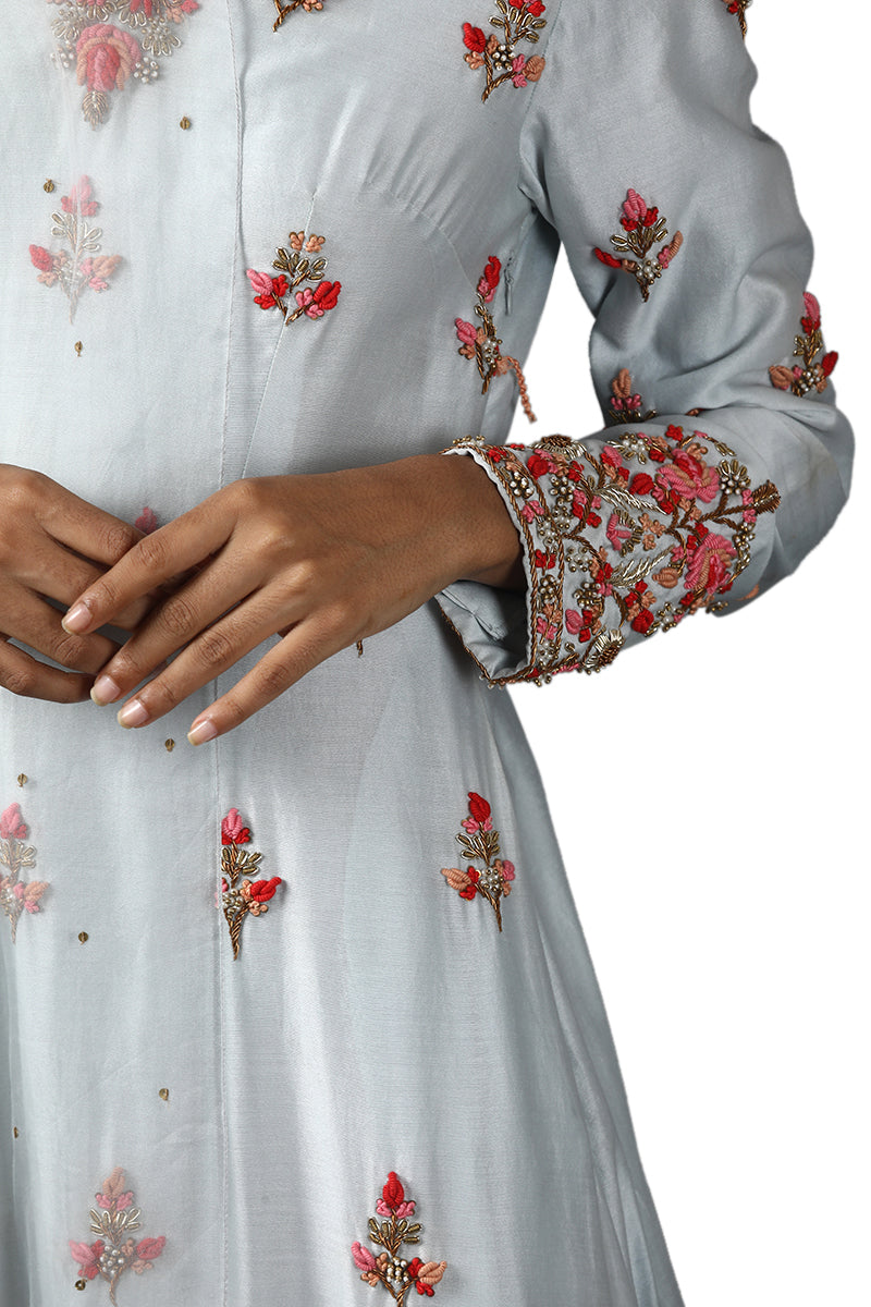 Light blue kurta set with dhoti pants