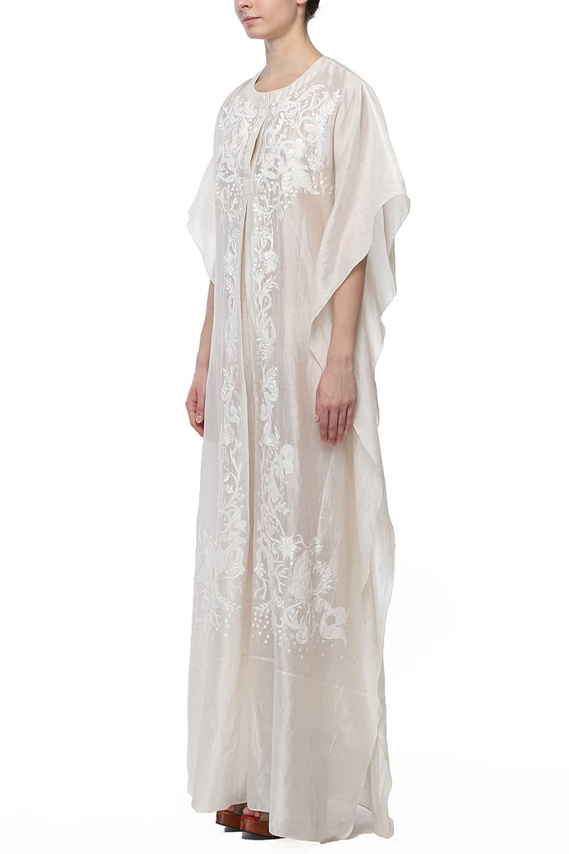 Relax Fit Embroidered Kaftan