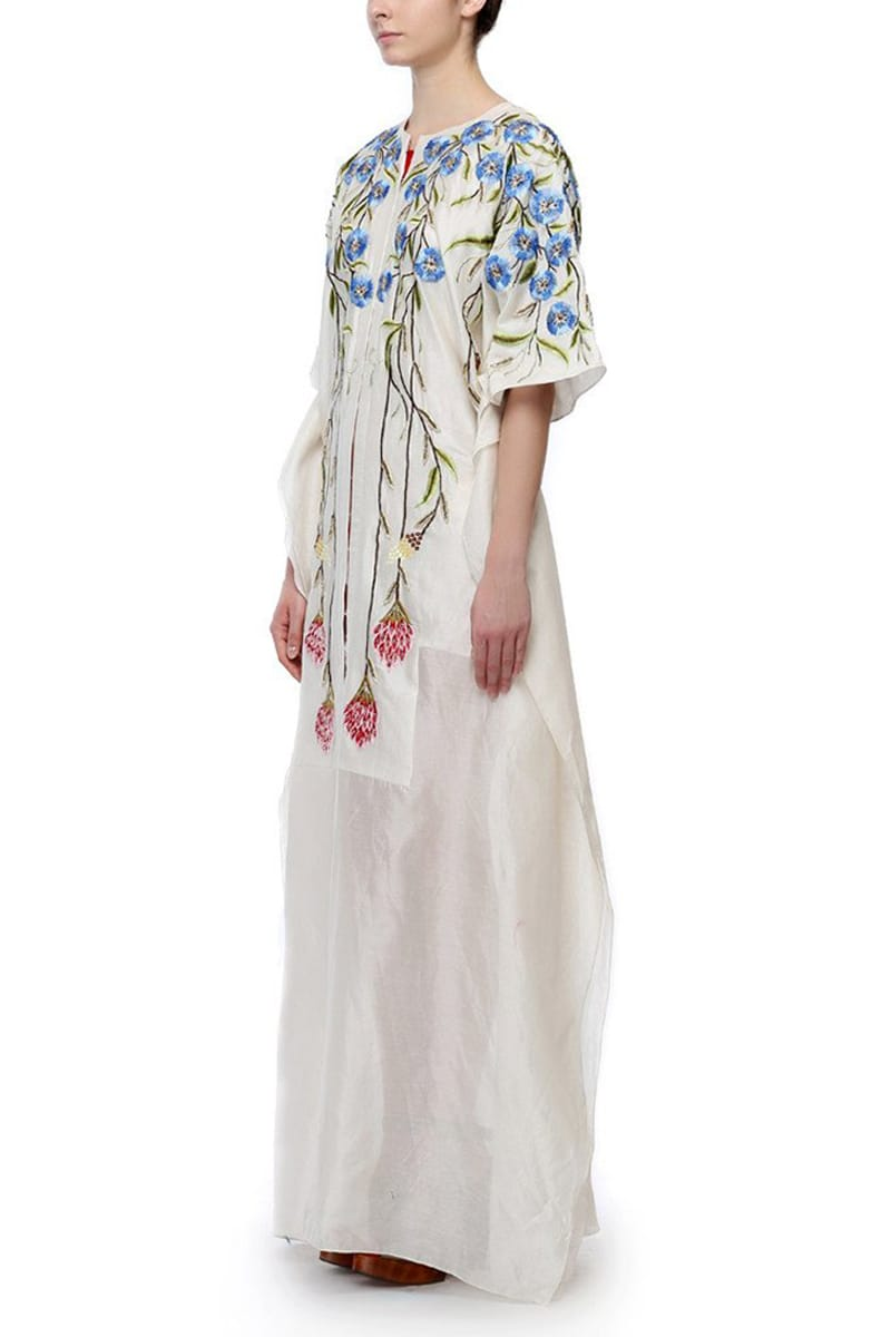 Front-Opening Embroidered Kaftan