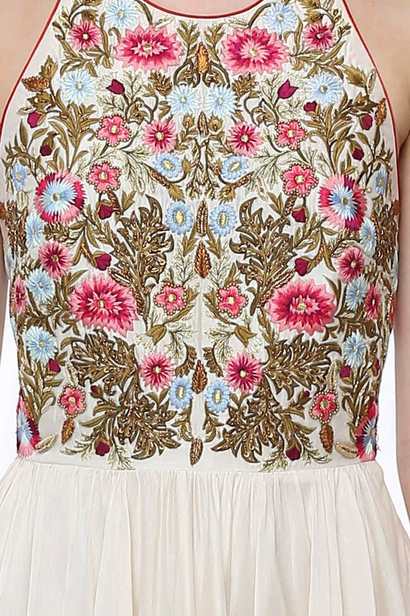 Fit & Flare Embroidered Dress