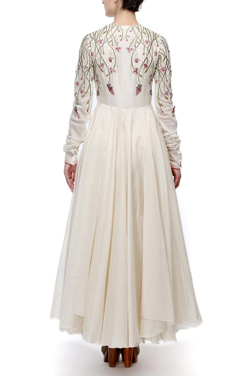 Ankle-Length Embroiderd Dress
