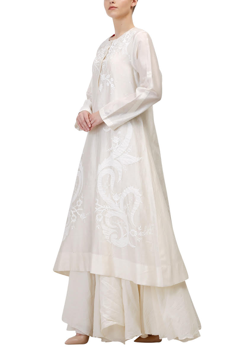 Roll-Up Sleeves Kurta