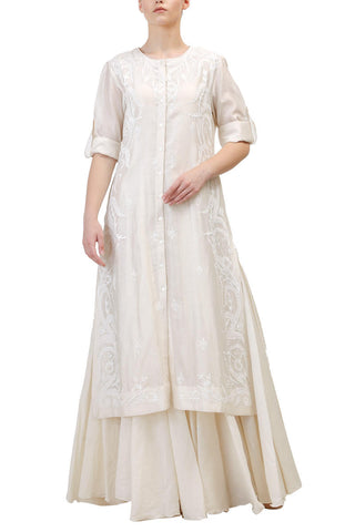 Shoulder Embroidered Kurta