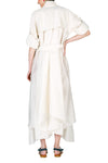 Raglan Asymmetric Robe Dress