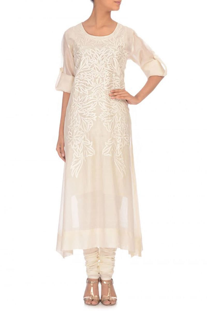 Straight-cut Embroidered Kurta