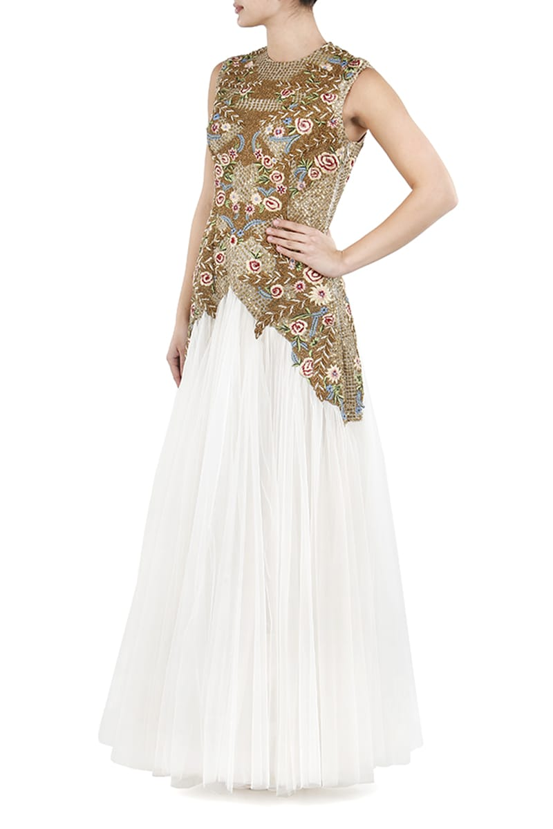 Floor-Length Embellished Gown