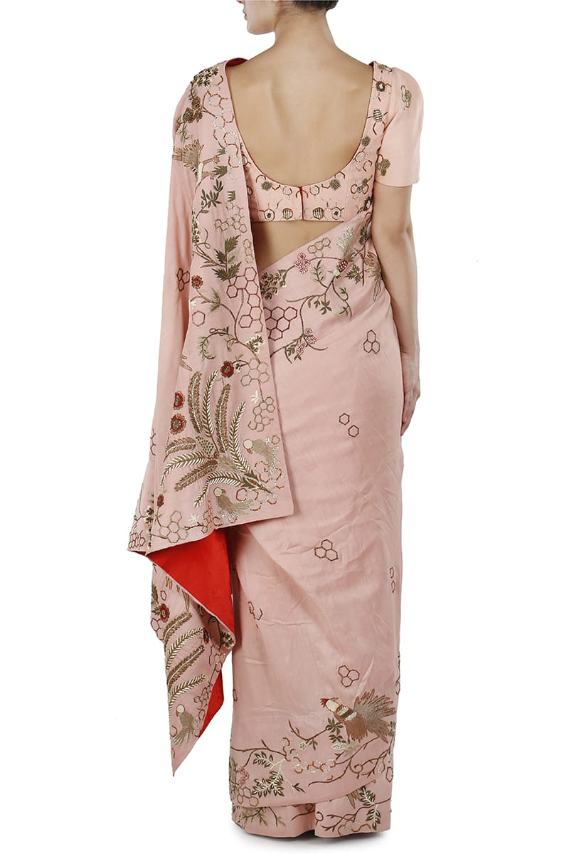 Embroidered Sare & Blouse set