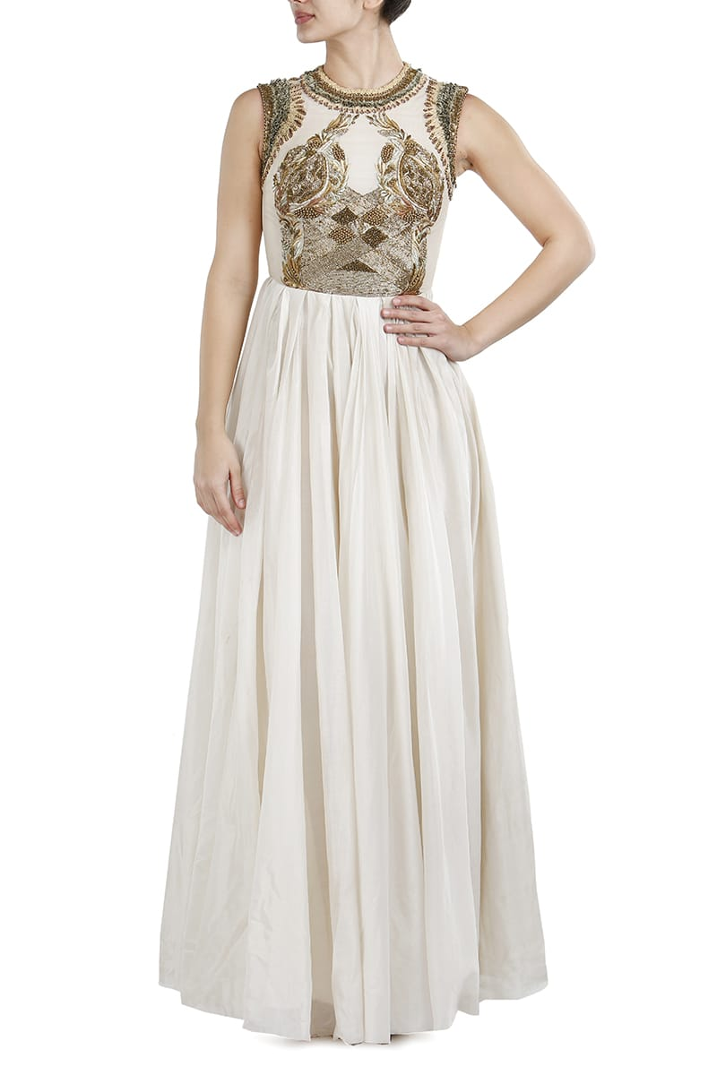 Fit & Flare Embellished Gown
