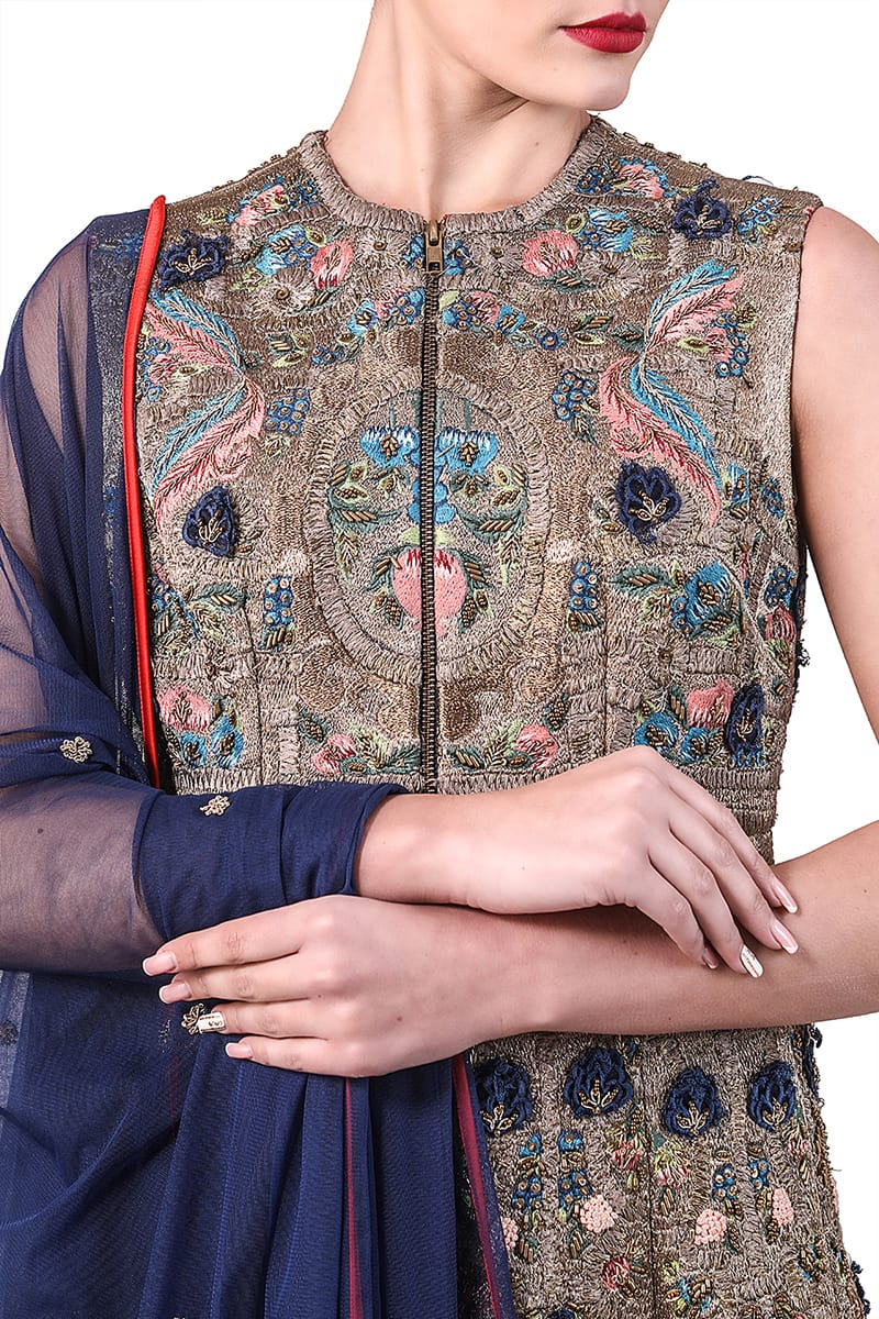 Embroidered Kurta & dupatta