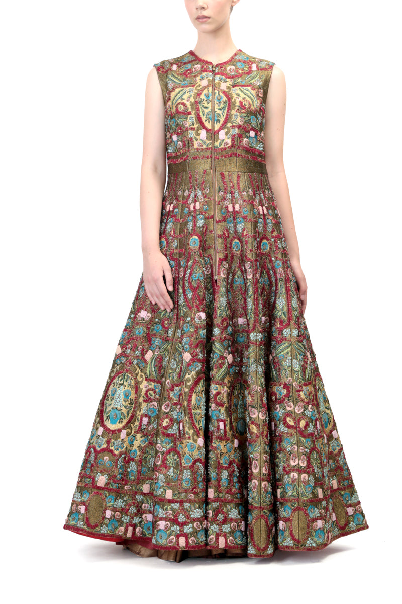 Embroidered Anarkali & dupatta