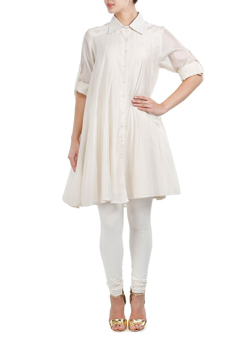 Thread Work Shirt style Dress