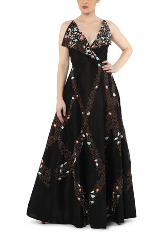 Fit & flare Corset Embroidered Gown