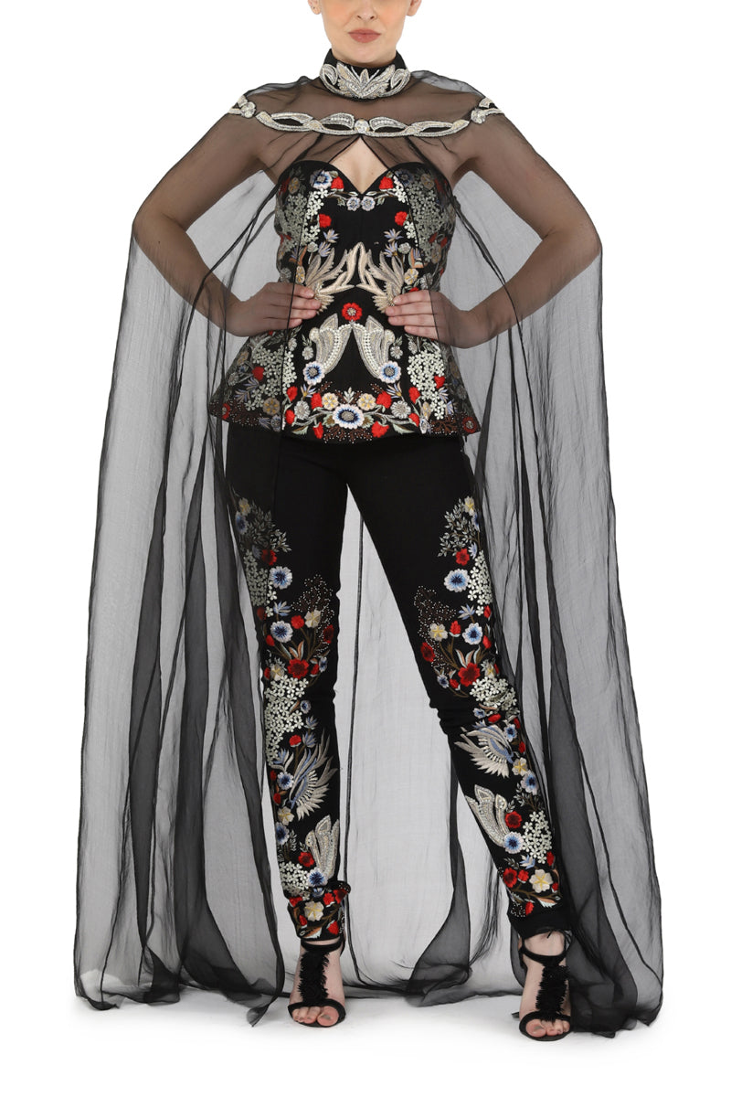 Corset & pant along with cape