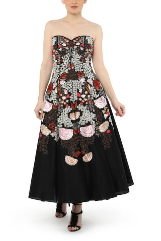 Collared Embroidered Gown