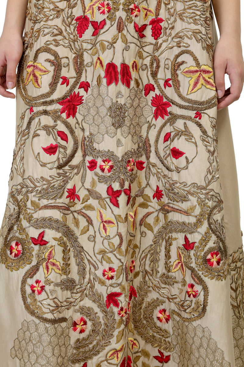 Embroidered Sleeveless Kurta