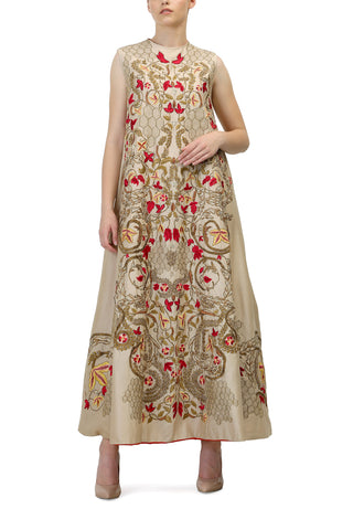 Embroidered Neck Angrakha