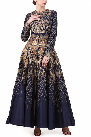 Yoke Embroidered Gown
