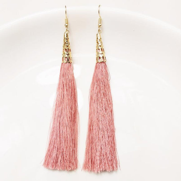 Long Tassel Earrings | Multiple Colours