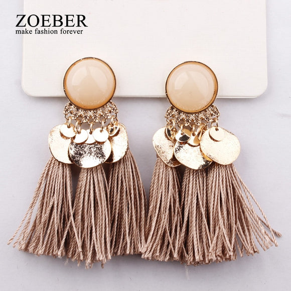Ethnic Bohemia Dangle Drop Earrings | Multiple Colours
