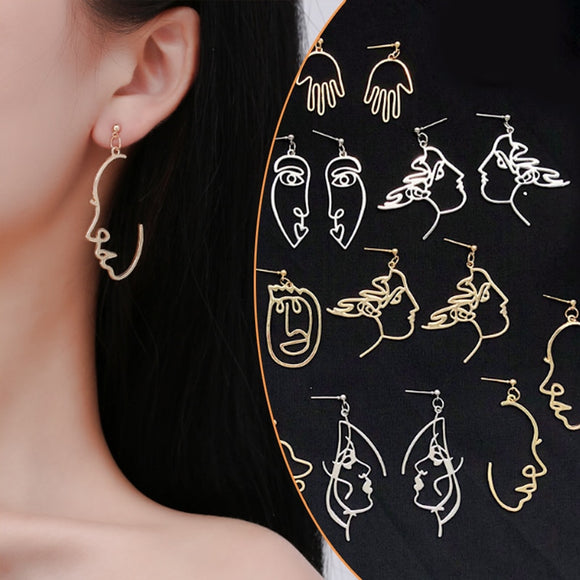 Abstract Retro Metal Earrings | Multiple Styles