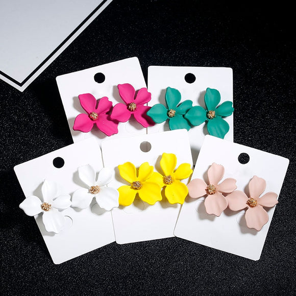 Cute Flower Stud Earrings | Multiple Colours and Styles