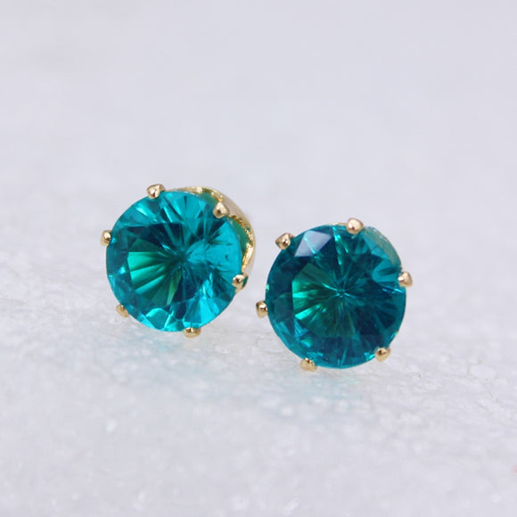 Crystal Stud Earrings | Multiple Colours