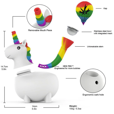 Pipe - Silicone Unicorn Water Pipe