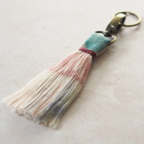 Create a tassel keyring from fabric