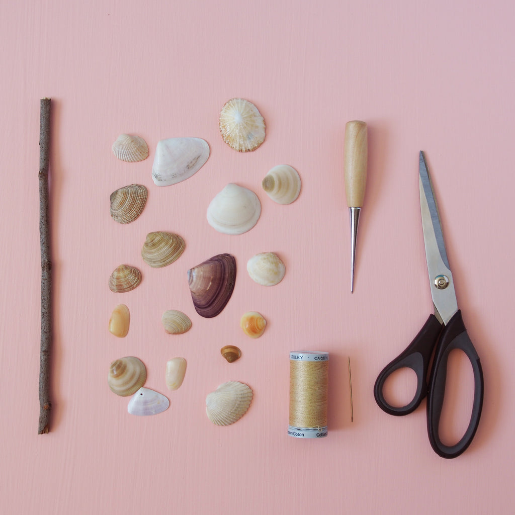Create A Seashell Wall Hanging Clare Mazitelli Designs