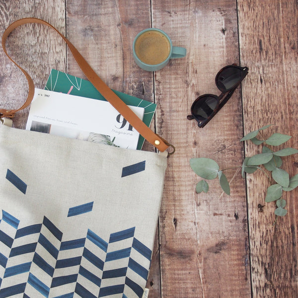 Everyday tote bag - Chevron print