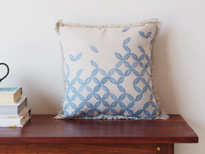 Embroidered cushion in petal print - limited edition