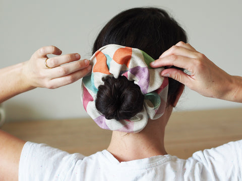 Linen scrunchie - Multi print