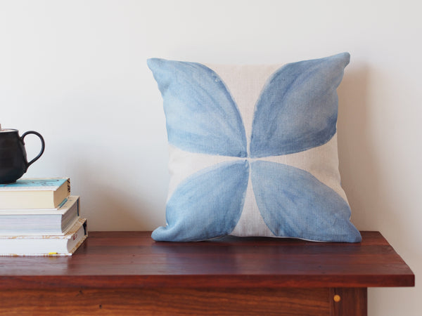 Cushion in Petal watercolour print
