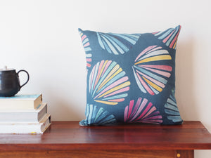 Cushion in Sunsets and Seashells print