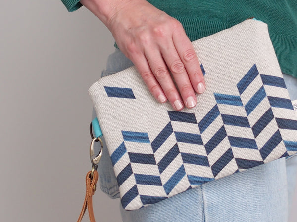 Clutch bag - Chevron print