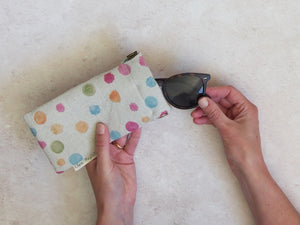 Sunglasses case - Wattle confetti