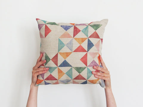 Cushion cover - Multi print - Small
