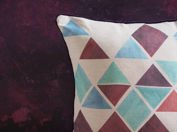 Cushion cover - Diamond print - Large