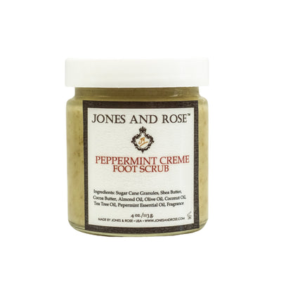 Peppermint Creme Foot Scrub - Jones and Rose