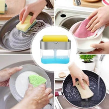 Load image into Gallery viewer, Dish Soap Pump Dispenser & Sponge Holder