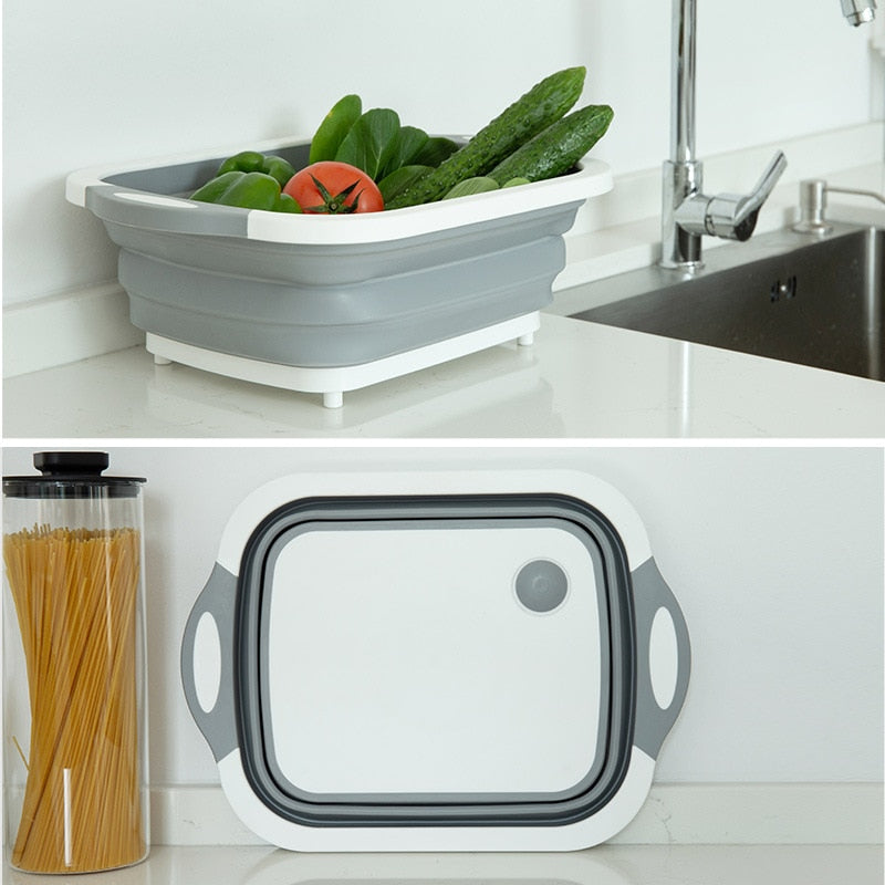 FOLDABLE STORAGE CHOPPING BOARD